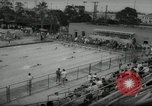 Image of swim meet Los Angeles California USA, 1966, second 8 stock footage video 65675070356