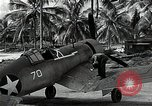 Image of American pilots Espiritu Santo Vanuatu, 1943, second 4 stock footage video 65675070357