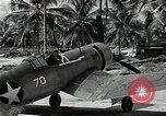 Image of American pilots Espiritu Santo Vanuatu, 1943, second 8 stock footage video 65675070357