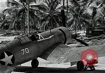 Image of American pilots Espiritu Santo Vanuatu, 1943, second 9 stock footage video 65675070357
