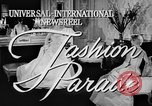 Image of fashion show Rome Italy, 1957, second 2 stock footage video 65675070385