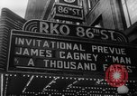 """Image of invitational preview of film """"Man of a Thousand Faces"""" New York United States USA, 1957, second 5 stock footage video 65675070397"""