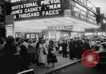 "Image of invitational preview of film ""Man of a Thousand Faces"" New York United States USA, 1957, second 9 stock footage video 65675070397"