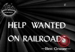 Image of American railroads United States USA, 1945, second 1 stock footage video 65675070404
