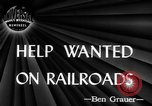Image of American railroads United States USA, 1945, second 4 stock footage video 65675070404