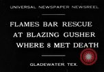 Image of burning gusher Gladewater Texas USA, 1931, second 1 stock footage video 65675070438