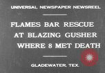 Image of burning gusher Gladewater Texas USA, 1931, second 2 stock footage video 65675070438