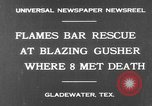 Image of burning gusher Gladewater Texas USA, 1931, second 3 stock footage video 65675070438