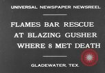 Image of burning gusher Gladewater Texas USA, 1931, second 4 stock footage video 65675070438