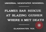 Image of burning gusher Gladewater Texas USA, 1931, second 5 stock footage video 65675070438
