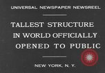Image of Empire State Building on opening day New York United States USA, 1931, second 2 stock footage video 65675070440