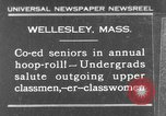 Image of annual hoop roll Wellesley Massachusetts USA, 1931, second 1 stock footage video 65675070441