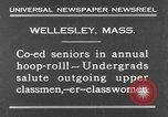 Image of annual hoop roll Wellesley Massachusetts USA, 1931, second 2 stock footage video 65675070441