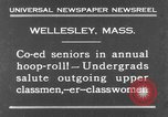 Image of annual hoop roll Wellesley Massachusetts USA, 1931, second 3 stock footage video 65675070441