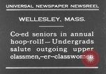 Image of annual hoop roll Wellesley Massachusetts USA, 1931, second 4 stock footage video 65675070441