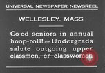 Image of annual hoop roll Wellesley Massachusetts USA, 1931, second 9 stock footage video 65675070441