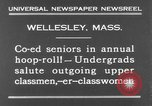 Image of annual hoop roll Wellesley Massachusetts USA, 1931, second 10 stock footage video 65675070441