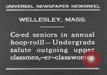 Image of annual hoop roll Wellesley Massachusetts USA, 1931, second 11 stock footage video 65675070441