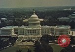 Image of Capitol and memorial buildings in Washington DC United States USA, 1963, second 2 stock footage video 65675070451