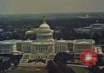 Image of Capitol and memorial buildings in Washington DC United States USA, 1963, second 4 stock footage video 65675070451