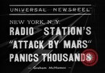 Image of radio play New York United States USA, 1938, second 2 stock footage video 65675070522
