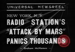 Image of radio play New York United States USA, 1938, second 5 stock footage video 65675070522