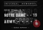 Image of Army versus Notre Dame football New York City USA, 1938, second 6 stock footage video 65675070526