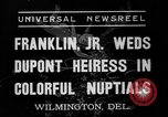 Image of Franklin Delano Roosevelt Jr Wilmington Delaware USA, 1937, second 3 stock footage video 65675070574