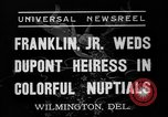 Image of Franklin Delano Roosevelt Jr Wilmington Delaware USA, 1937, second 5 stock footage video 65675070574