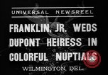 Image of Franklin Delano Roosevelt Jr Wilmington Delaware USA, 1937, second 7 stock footage video 65675070574