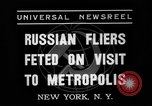 Image of three Russian aviators New York United States USA, 1937, second 2 stock footage video 65675070575