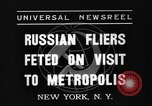 Image of three Russian aviators New York United States USA, 1937, second 4 stock footage video 65675070575