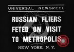 Image of three Russian aviators New York United States USA, 1937, second 5 stock footage video 65675070575