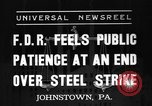 Image of steel strike Johnstown Pennsylvania USA, 1937, second 1 stock footage video 65675070577
