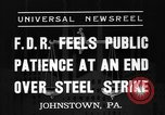 Image of steel strike Johnstown Pennsylvania USA, 1937, second 3 stock footage video 65675070577
