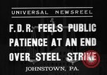 Image of steel strike Johnstown Pennsylvania USA, 1937, second 5 stock footage video 65675070577
