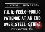 Image of steel strike Johnstown Pennsylvania USA, 1937, second 6 stock footage video 65675070577