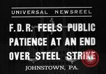 Image of steel strike Johnstown Pennsylvania USA, 1937, second 7 stock footage video 65675070577