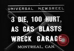 Image of gasoline blast Montreal Quebec Canada, 1937, second 1 stock footage video 65675070578