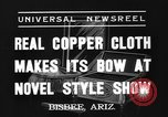 Image of copper style show Bisbee Arizona USA, 1937, second 2 stock footage video 65675070580