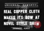 Image of copper style show Bisbee Arizona USA, 1937, second 4 stock footage video 65675070580