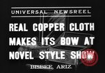 Image of copper style show Bisbee Arizona USA, 1937, second 5 stock footage video 65675070580