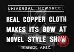 Image of copper style show Bisbee Arizona USA, 1937, second 7 stock footage video 65675070580