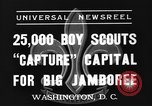 Image of boy scouts Washington DC USA, 1937, second 2 stock footage video 65675070581