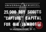 Image of boy scouts Washington DC USA, 1937, second 7 stock footage video 65675070581