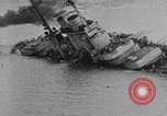 Image of Austro-Hungarian ship SMS Szent Istvan sinking Adriatic Sea, 1918, second 1 stock footage video 65675070597