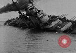 Image of Austro-Hungarian ship SMS Szent Istvan sinking Adriatic Sea, 1918, second 3 stock footage video 65675070597