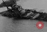 Image of Austro-Hungarian ship SMS Szent Istvan sinking Adriatic Sea, 1918, second 5 stock footage video 65675070597