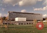Image of modern building Geneva Switzerland, 1968, second 1 stock footage video 65675070665