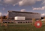 Image of modern building Geneva Switzerland, 1968, second 9 stock footage video 65675070665